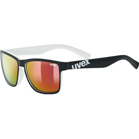 UVEX LGL 39 Brille, black matt white/mirror red